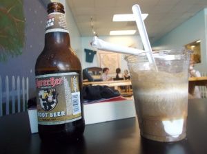 Root beer floats should be allowed in the Coffeeneuring Challenge. Root beer is brewed, right?